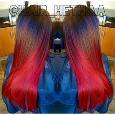 Incredible red and brunette ombre by Heather G. Outstanding design! #hotonbeauty HOT Beauty Magazine fb.com/hotbeautymagazine