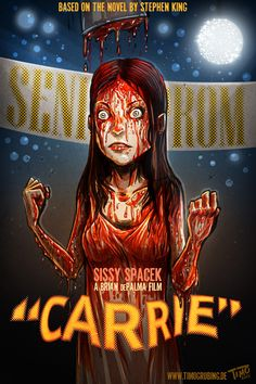 Carrie by TmoeGee on DeviantArt Horror Posters, Horror Icons, Fan Poster, Movie Poster Art, Best Horror Movies, Horror Films, Arte Horror, Horror Art, Stephen King Movies