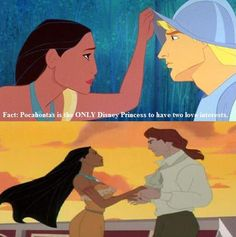 Fact... John Smith and John Rolfe. If anyone asks why I have two love interests, this is why. #Disney #pocahontas