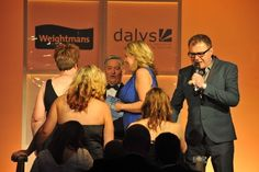 This is the team collecting the Leicester Mercury Business Services Award.