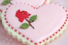 Did you know that over 50 million roses are given on Valentine's Day worldwide every year?    Why not make the roses you give to your loved ones this year a little bit different (and sweet!), with stencilled decorated cookies?