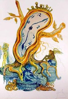 salvador dali stillness of time melting clock tree