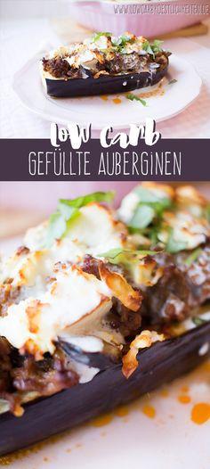 Gefüllte Auberginen mit Knoblauchjoghurt www.lowcarbkoestlichkeiten.de