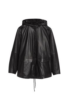 Back to School Fall's Coolest Coats: & Other Stories' black leather anorak. [Photo: Courtesy]