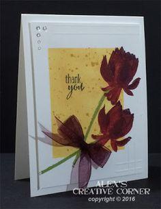 Alex's Creative Corner: Lotus Blossom Thank You Card