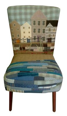 Unusual Furniture, Funky Furniture, Furniture Making, Furniture Makeover, Painted Furniture, Chair Upholstery, Chair Fabric, Upholstered Chairs, Colorful Chairs