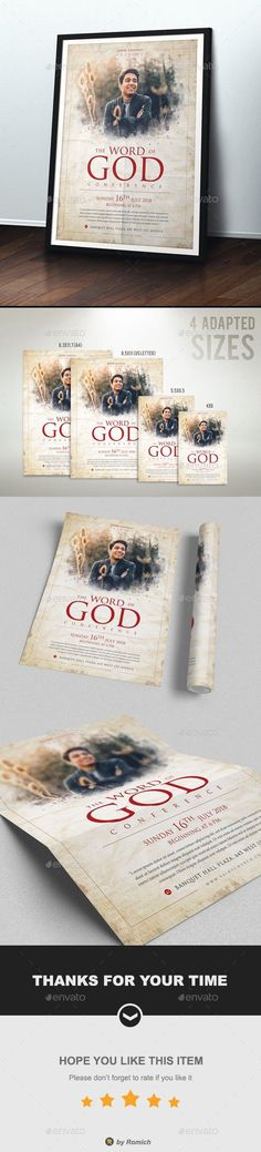 The Word Of God #DesignResources #Envato #print #DesignCollections #graphic #template #FlyerTemplate #religion #FlyerTemplates #GraphicResources #flyer #ChurchFlyer #collections #design #PrintTemplates #DesignSet #graphicdesign #sets #church