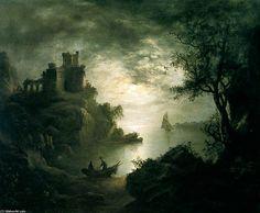 Une scène au clair de lune de Abraham Pether (1756-1812, United Kingdom)