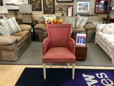 ANOTHER NEW ARRIVAL IS ALREADY ON SALE: Pay only $60 for this Solid Red Orange Armchair! All furniture 20% OFF, everything else is 25% OFF!