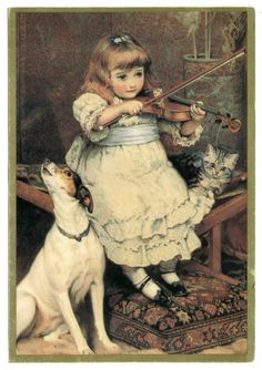 Violin Practice, My family has a copy of this painting! :)