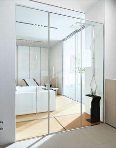 Rectangular tempered #glass #shower cabin SPACE by MAKRO   #design Makro Design #bathroom