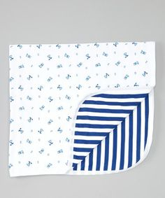 Take a look at this Navy Happy Dog Stroller Blanket by Mooncakes on #zulily today!