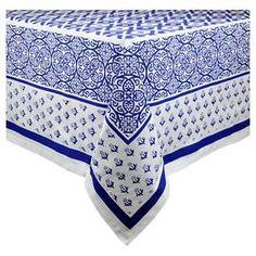 Blue Tunisia Print Tablecloth - Design Imports : Target