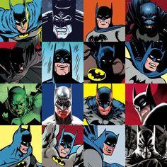 Faces of Batman - Fine Art Giclée signed by 10 notable Batman Artists.