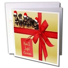 Taiche - Christmas - Rottweiler Puppies - Joyful Christmas - rottweiler, rottweilers, rottie, rotties, rottie owner, rottweiler puppy - 6 Greeting Cards with envelopes (gc_47065_1) 3dRose http://www.amazon.com/dp/B007ZSH9MM/ref=cm_sw_r_pi_dp_uD7Jub0T11SGW