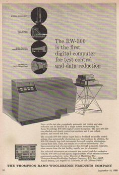 Thompson-Ramo-Woolridge RW-300 Digital Computer Ad (1958).