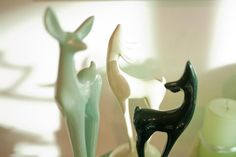 vintage ceramic fawns  Heather Ross