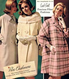Vintage Fashion: Artifacts From Years Gone By – Winter Coat 60s And 70s Fashion, Retro Fashion, Vintage Fashion, Fashion Fashion, Vintage Outfits, Vintage Dresses, 1960s Dresses, Vintage Clothing, Vestidos Pin Up