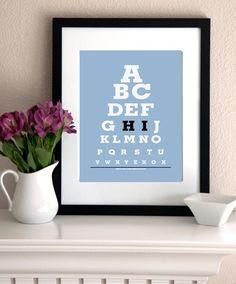 "Kids Wall Art / Decor Eye Chart Print ""ABC (alphabet hi)"" BUY 2 Get 1 FREE Poster/Print. $15.00, via Etsy."