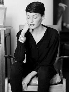 Audrey Hepburn style short hair