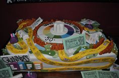 The Game of Life Cake!! This is such a cool idea!