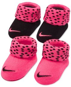 Nike Baby Girls' Two-Pack Booties Set