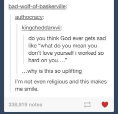I am religious and that makes me smile! :)