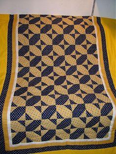 zuzanamatic / žlto-modrá deka