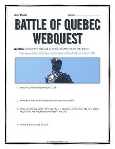 american revolution webquest with key declaration of
