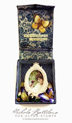 Butterfly Vignette Box for Alpha Stamps - Nichola Battilana