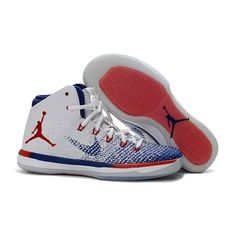 Find WoAir Jordan XXXI USA Olympic Basketball Shoes White University  Red-Deep Royal. Cheap SneakersNike ... d7e48ae7a