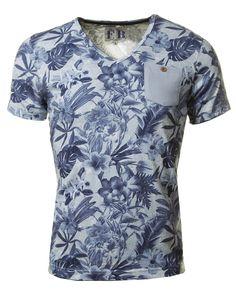 SKY BLUE FLORAL PRINT T-SHIRT – The Fresh Brand