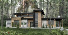 Small Contemporary House Design Architecture Ideas For 2020 Contemporary House Plans, Modern House Plans, Modern House Design, Modern House Exteriors, Beach Cottage Exterior, Dream House Exterior, Modern Architecture House, Architecture Design, Sustainable Architecture