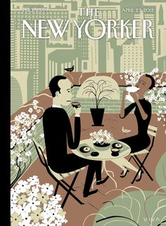 """The New Yorker - Monday, April 23, 2012 - Issue # 4448 - Vol. 88 - N° 10 - Cover """"The Joys of the Outdoors"""" by Frank Viva"""