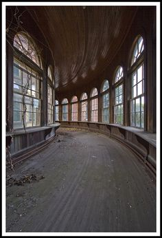 "Breathtaking...Taunton Lunatic Asylum by Ryan C. Nye. So weird how all of the ""lunatic"" asylums are abandoned. Why didn't they use them as regular hospital? Or something else and where did all the displaced people go? I know they had a bad rep, but not all were bad, were they?"