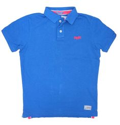 Superdry Mens Twist Yarn Pique Polo - Nautical Blue – £36.95 with free UK at p&p www.moyheelandtraders.com Gorgeous bright polo top that works well with jeans for spring and shorts for summer.
