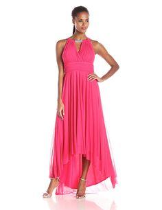 8c3be38dd652 Jessica Howard Women's Shirred Surplus Bodice Dress with Hi-Low Skirt ***  Insider's
