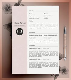 Creative Resume Template, CV Template, Instant Download, Editable in MS Word and…