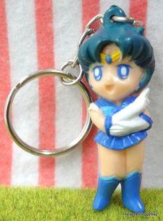 1990s : Japanese Anime / Shojo Manga : Yutaka Toys : Sailor Moon : Puchi Mini Action Toy Figure Keychain / Keyholder - Sailor Mercury