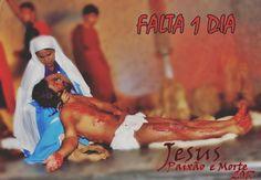 #Falta1Dia #PaixãoDeCristo2017 Dia 14 de Abril na Praça Irmã Maria Paula, Bairro Petrolândia em Contagem/MG as 19 horas. Vai ser bom aparecer por lá.