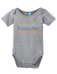 Lancaster Pennsylvania Retro Onesie Funny Bodysuit Baby Romper