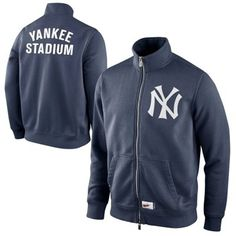 Nike New York Yankees Cooperstown Collection Ballpark Full Zip Track Jacket - Navy Blue