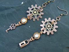 victorian steampunk lock and key dreamcatcher door gildedingypsy