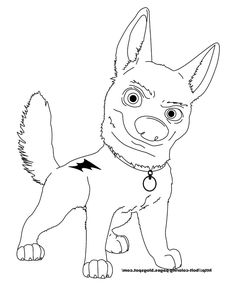 Bolt Coloring Page Disney Characters