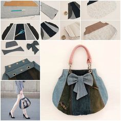 DIY Fashionable Handbag from Old Jeans