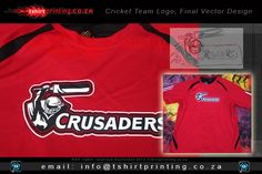 Cricket Team Logo Design Want to look like an awesome cricket team with a custom Cricket Team Logo Design? Contact us for the COOLEST Cricket Team Logo Designs in South Africa Team Logo Design, Sports Team Logos, Team Shirts, Crusaders, Cool Logo, Vector Design, Cricket, Mad, Shirt Designs
