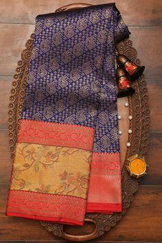 Wedding Saree Blouse, Bridal Silk Saree, Kanjivaram Sarees Silk, Kanchipuram Saree, South Indian Wedding Saree, Saree Kuchu Designs, Wedding Saree Collection, Party Sarees, Embroidery Saree