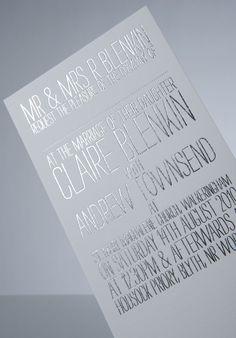 wedding invitation foil silver