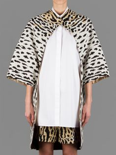 Valentino leopard cape