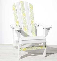 DIY Stenciled Adirondack Chairs for the summer, part of Martha Stewart's Mad About Color Series, July 2015!